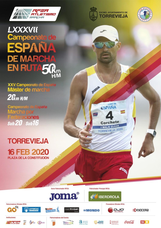 Cartel - Cto Esp 50kms marcha ruta Torrevieja 2020
