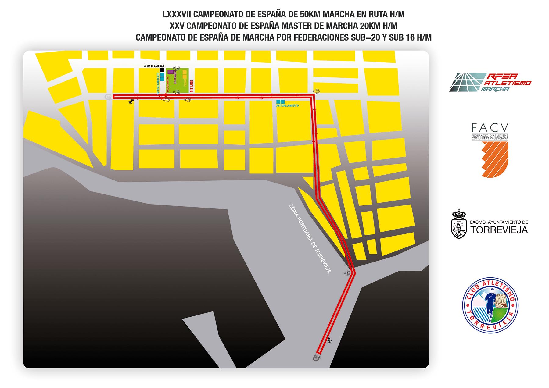 Recorrido - Cto Esp 50kms marcha ruta Torrevieja 2020